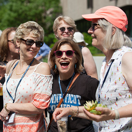 Alumni embrace each other at Reunion 2018